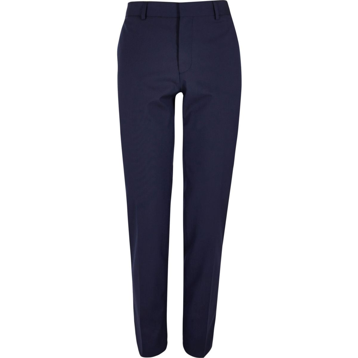 Dark blue skinny fit suit trousers