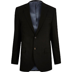 Black tailored suit jacket