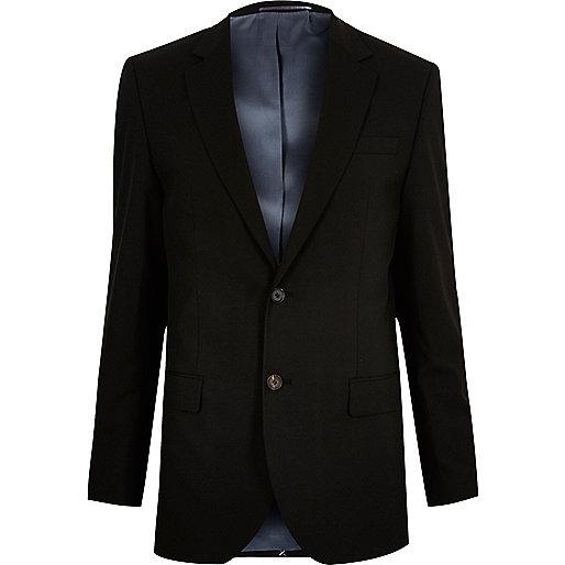 Schwarze, taillierte Anzugjacke