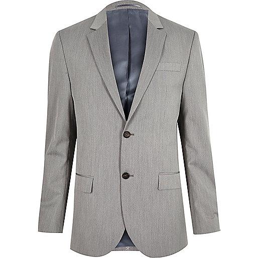 Veste de costume cintrée grise