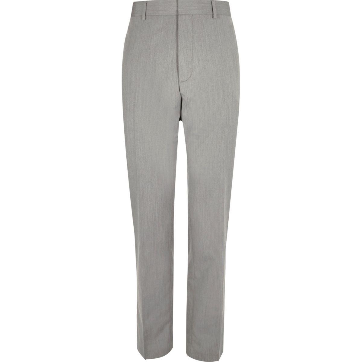 Pantalon de costume ajusté gris