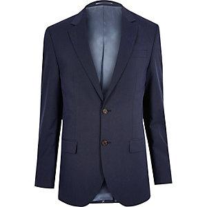 Veste de costume ajustée bleu foncé