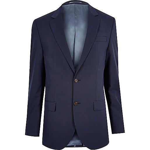 Dark blue tailored suit jacket