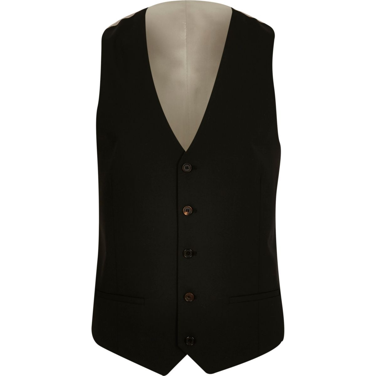 Black slim fit vest