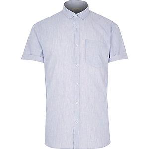 Blue waffle short sleeve shirt
