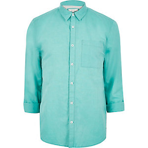 Green linen-rich shirt
