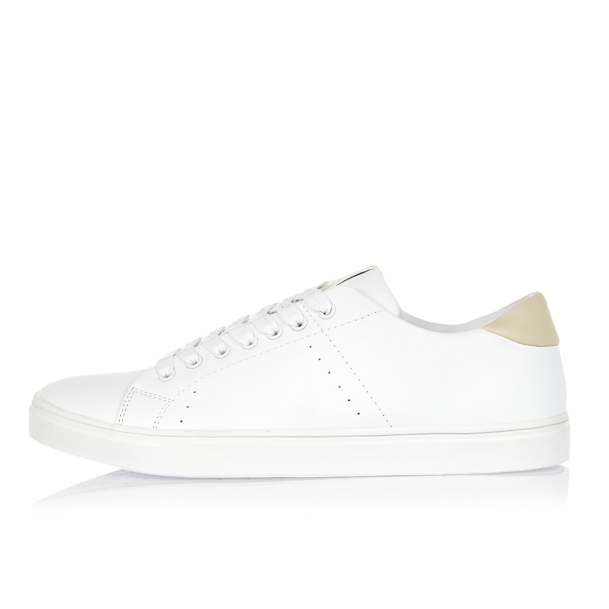 White tonal trainers