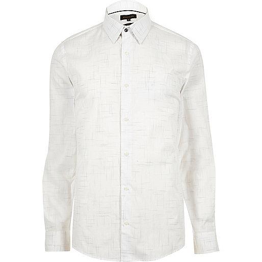 Chemise blanche imprimé pelote