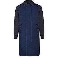Blue Lou Dalton mesh raglan mac coat