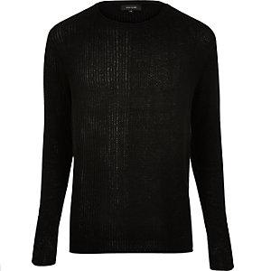 Black stitch block jumper