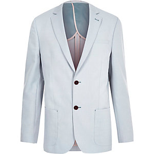 Blue tailored fit blazer