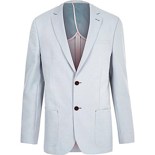 Blue tailored fit blazer
