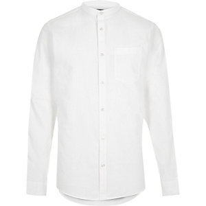 Chemise Oxford casual blanche style grand-père