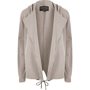 Brown zipper edge cardigan