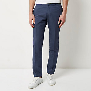 Blue smart slim pants