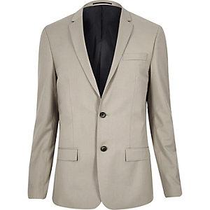 Beige skinny suit jacket