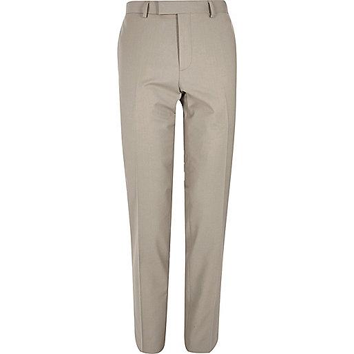 Beige skinny suit pants