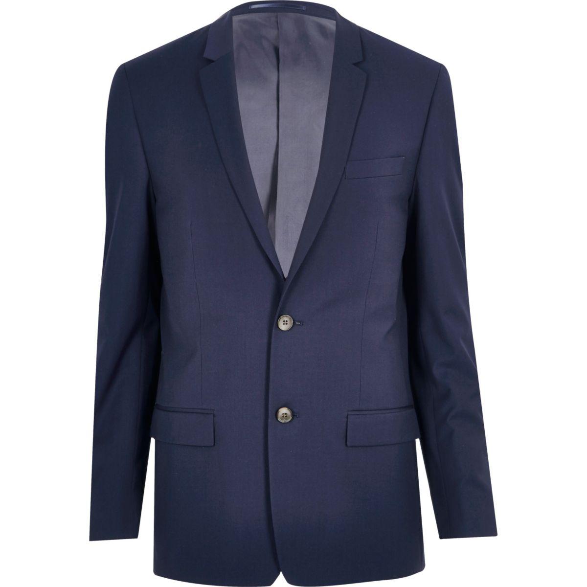 Navy skinny suit jacket