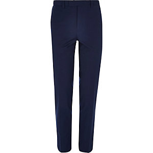 Marineblaue Skinny Fit Anzughose