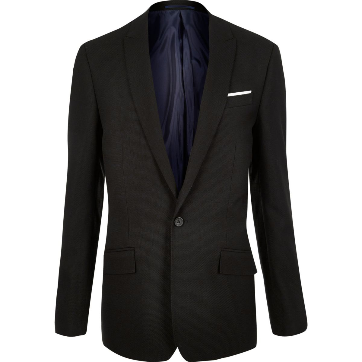 Black slim fit suit jacket
