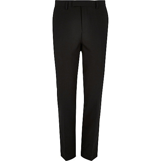 Black slim suit pants