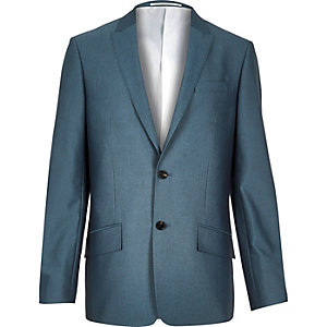 Blue slim fit suit jacket
