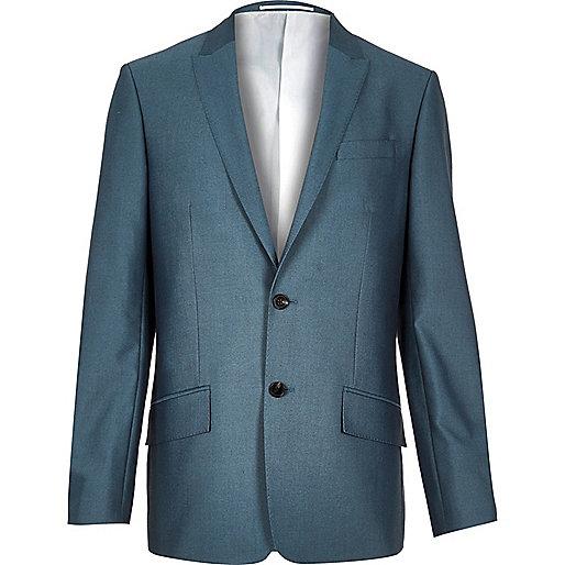 Veste de costume bleue coupe cintrée