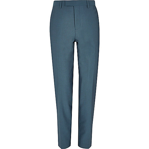 Blue slim suit pants