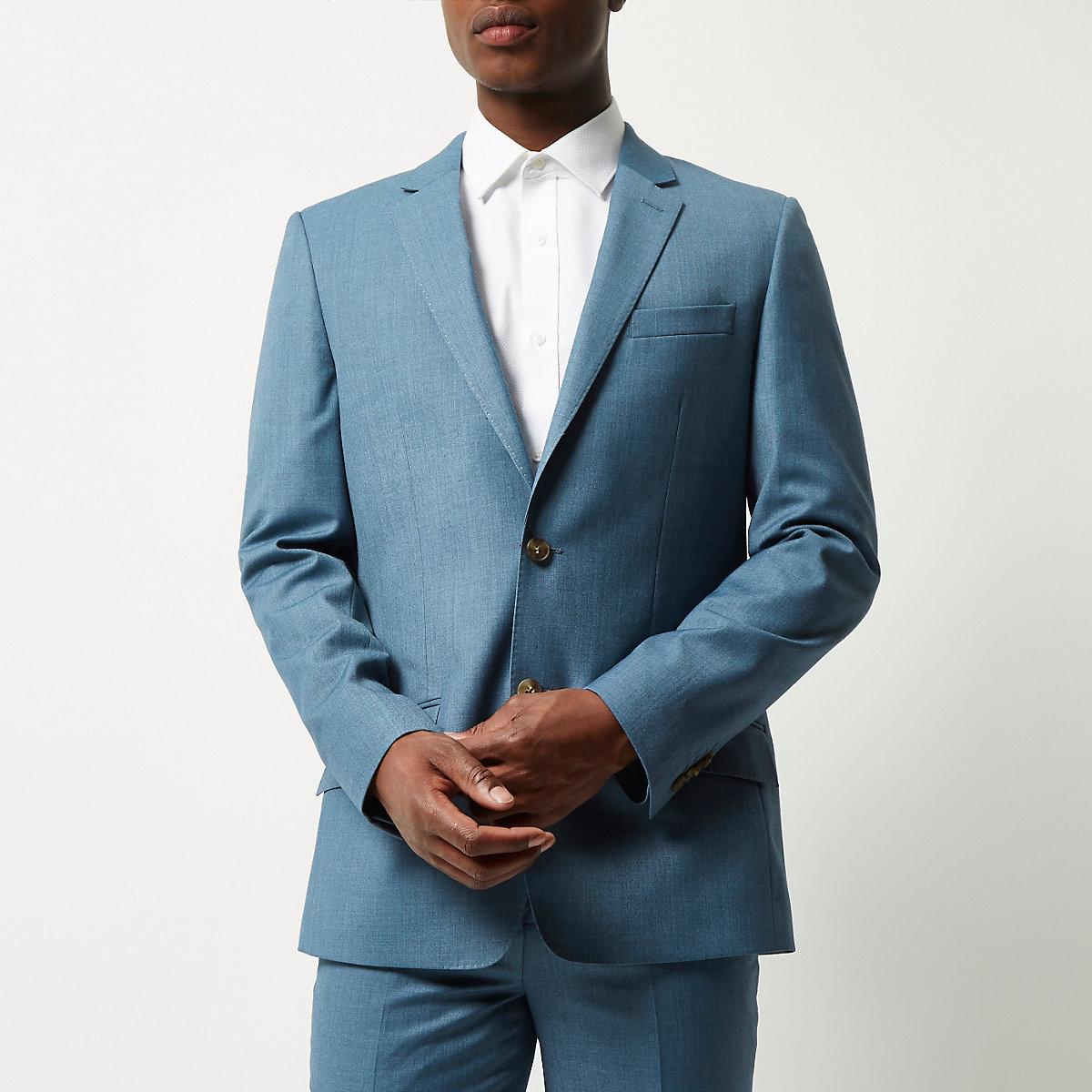 Veste costume bleu claire