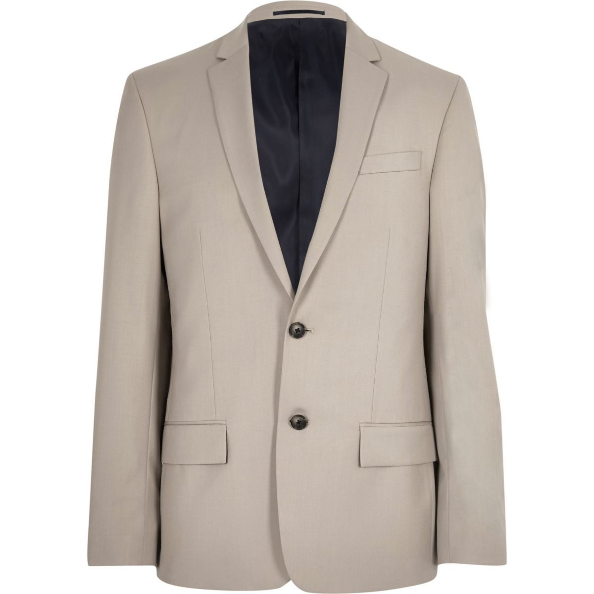 Beige slim fit suit jacket