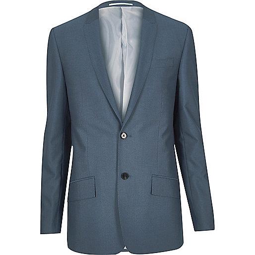 Veste de costume bleu coupe ajustée