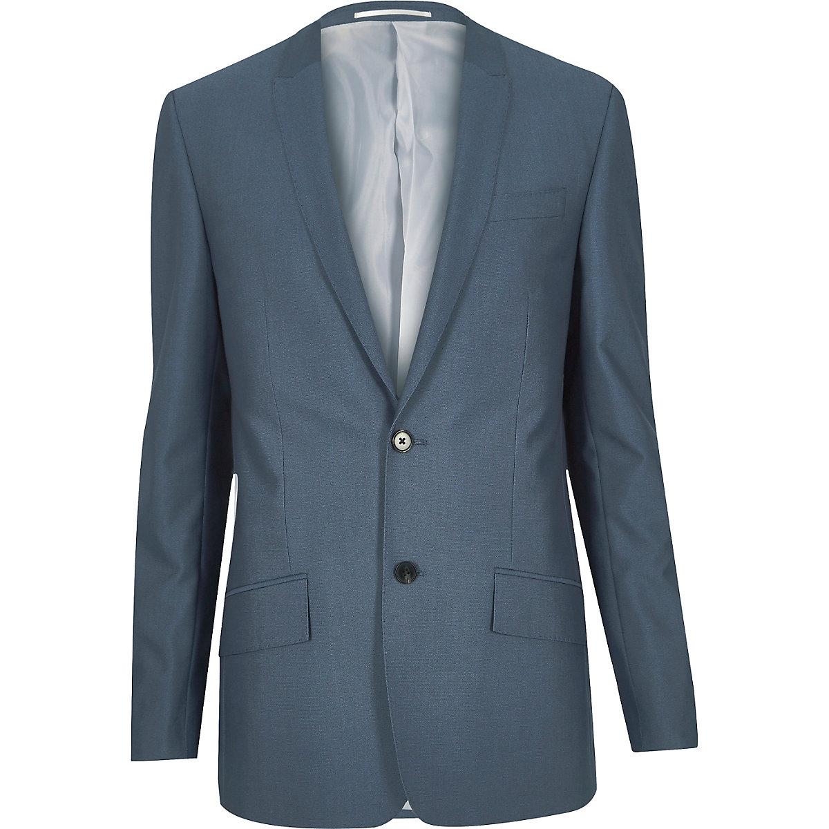 Blue tailored suit jacket