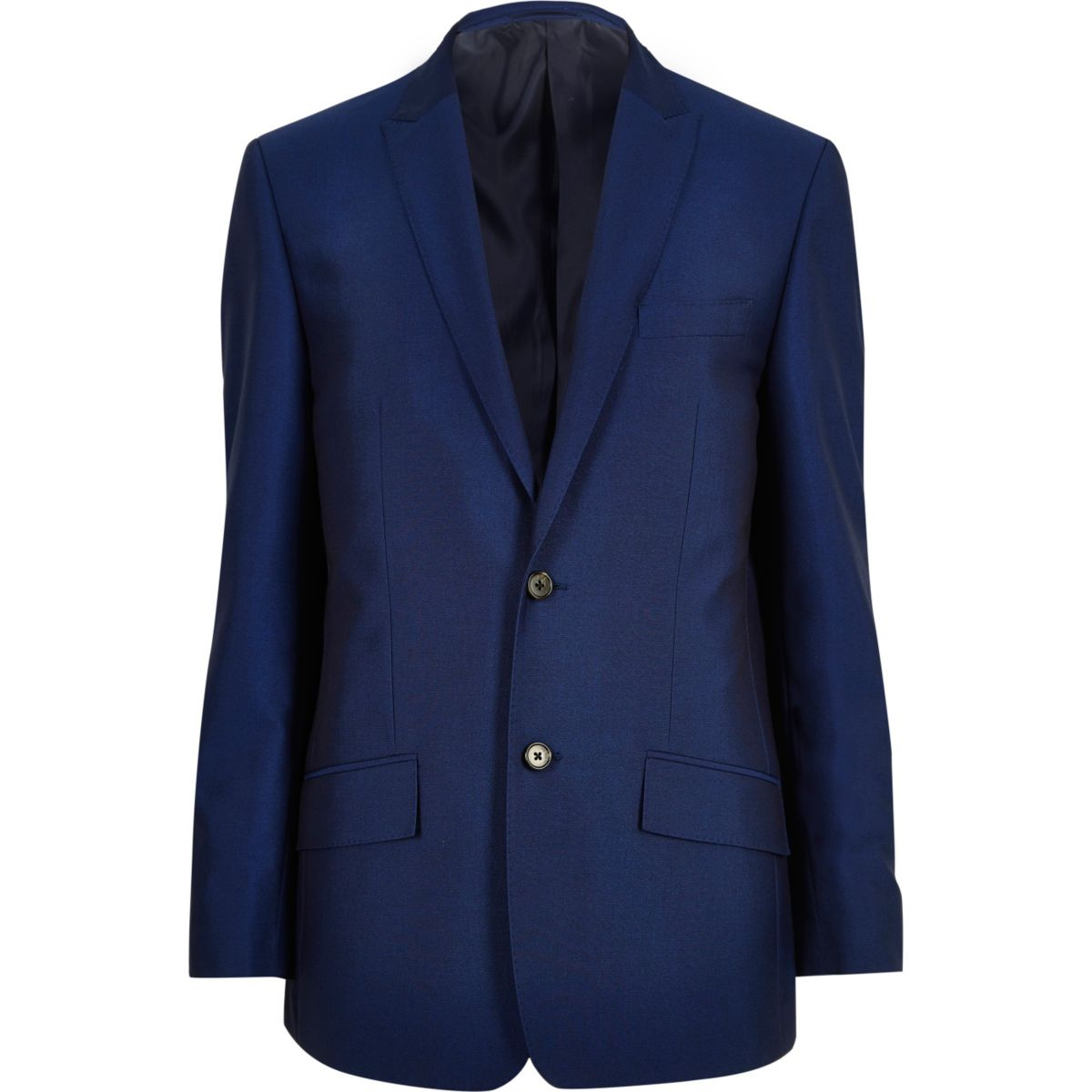 Blaue, elegante Anzugjacke
