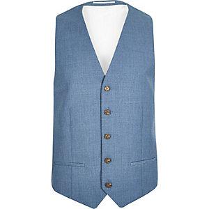 Light blue slim waistcoat