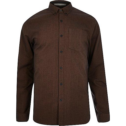 Rostbraunes Oxfordhemd