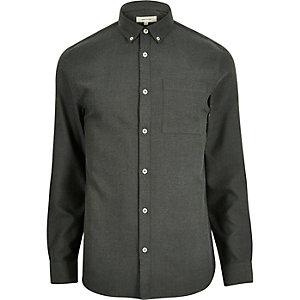 Chemise en flanelle verte à manches longues