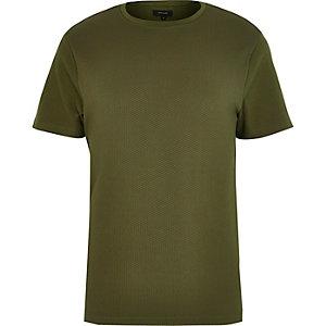 Green dotty texture t-shirt