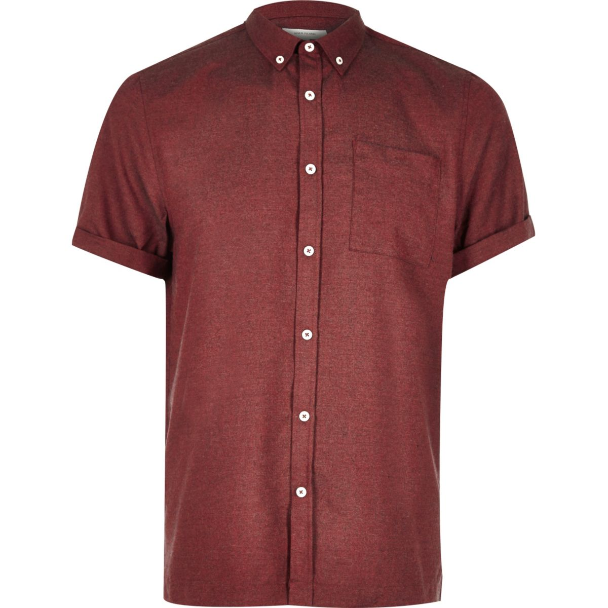 Red flannel short sleeve shirt