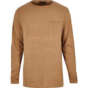 Light brown long sleeve t-shirt