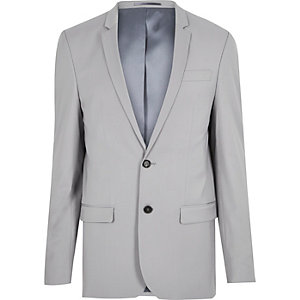 Grey skinny suit jacket