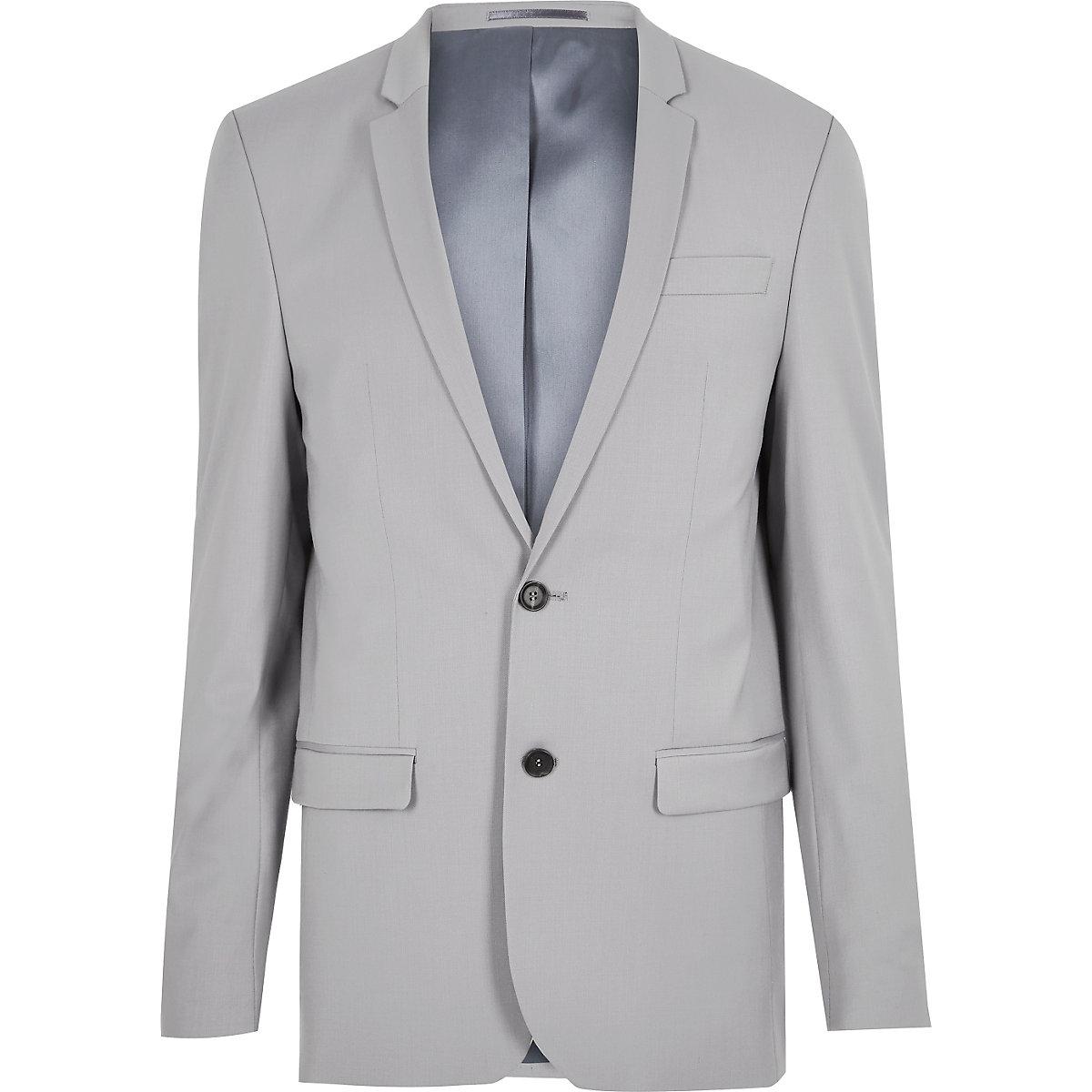 Grey skinny suit jacket