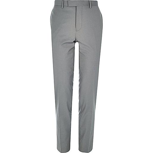 Graue Anzughose mit Skinny Fit