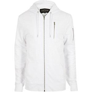 White zip hoodie