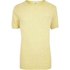 Yellow crew neck short sleeve top
