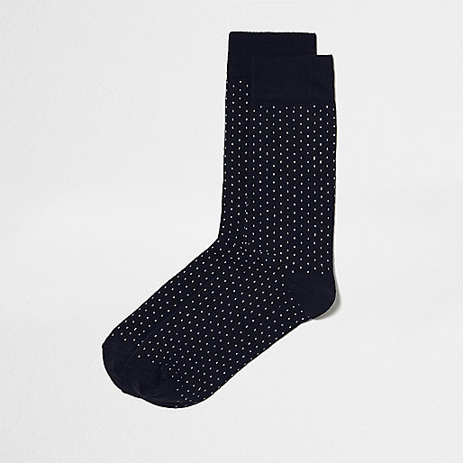 Navy polka dot socks