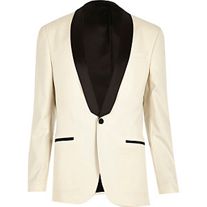 White skinny suit jacket