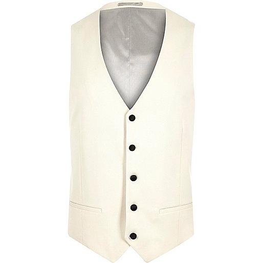 White suit waistcoat