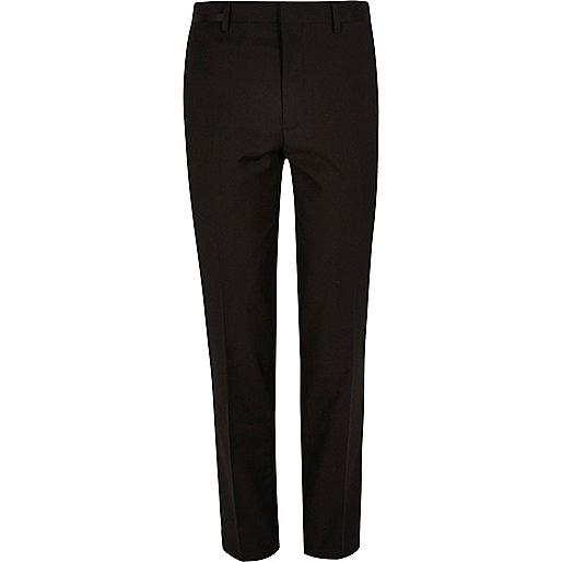 Black skinny fit suit pants