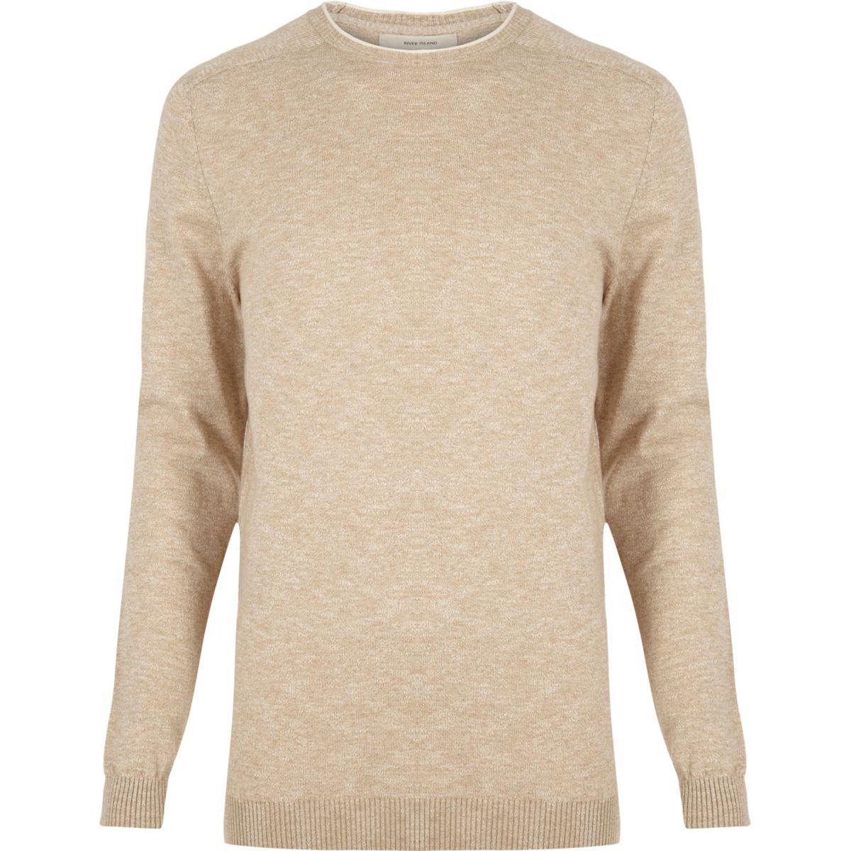 Stone crew neck sweater