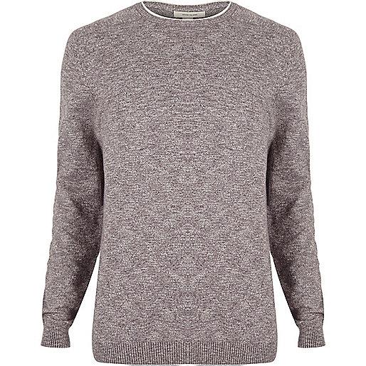 Purple crew neck sweater